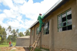 The Water Project: Bugute Lutheran Primary School -  Securing Guttering