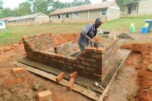 The Water Project: Bumbo Primary School -  Latrine Brick Work
