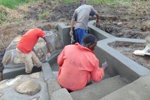 The Water Project: Emurumba Community, Makokha Spring -  Artisan Team At Work