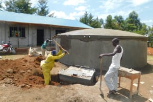 The Water Project: Sawawa Secondary School -  Digging Soak Pit For Drainage