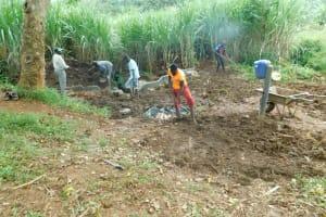 The Water Project: Namarambi Community, Iddi Spring -  Backfilling