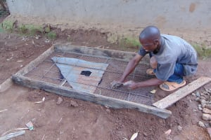 The Water Project: Musiachi Community, Mutuli Spring -  Sanitation Slab Construction