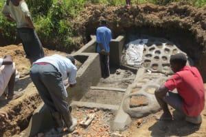 The Water Project: Tumaini Community, Ndombi Spring -  Stair Work
