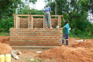 The Water Project: Bumbo Primary School -  Framing Latrines