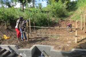 The Water Project: Rosterman Community, Lishenga Spring -  Fencing