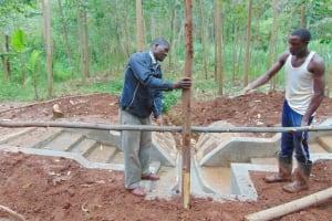 The Water Project: Imusutsu Community, Ikosangwa Spring -  Fencing