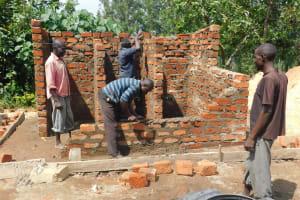 The Water Project: Sawawa Secondary School -  Latrine Brickwork