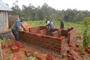 The Water Project: Bugute Lutheran Primary School -  Latrine Brickwork
