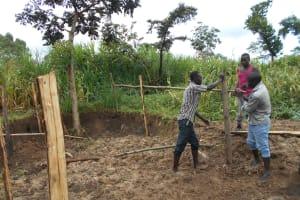 The Water Project: Kalenda B Community, Lumbasi Spring -  Fencing