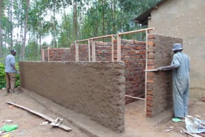 The Water Project:  Cementing And Framing The Latrines