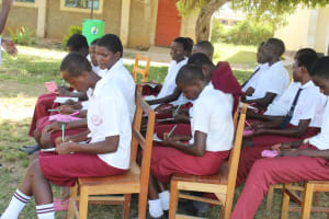 The Water Project: Friends School Ikoli Secondary -  Training Moves Outside