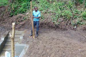 The Water Project: Mubinga Community, Mulutondo Spring -  Building Fence