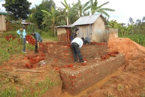 The Water Project: Bugute Lutheran Primary School -  Latrine Work
