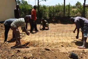 The Water Project: Friends School Ikoli Secondary -  Preparing Tank Foundation