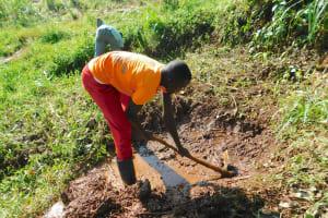 The Water Project: Namarambi Community, Iddi Spring -  Excavation