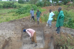 The Water Project: Kalenda B Community, Lumbasi Spring -  Excavation For Stairs