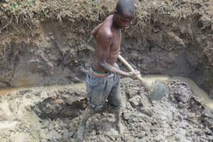 The Water Project: Tumaini Community, Ndombi Spring -  Site Excavation