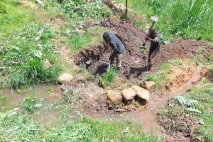 The Water Project: Mukangu Community, Metah Spring -  Excavation