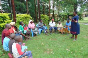 The Water Project: Mukangu Community, Metah Spring -  Training With Karen Begins