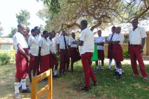 The Water Project: Friends School Ikoli Secondary -  Student Demonstrates Handwashing
