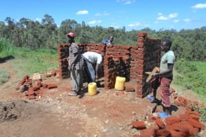The Water Project: Bugute Lutheran Primary School -  Second Set Of Latrines Take Shape