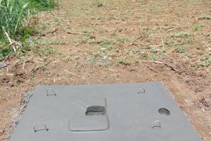 The Water Project: Emurumba Community, Makokha Spring -  Completed Sanitation Slab