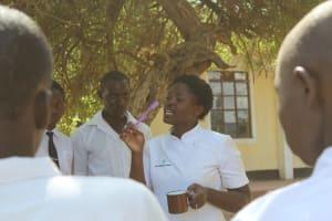 The Water Project: Friends School Ikoli Secondary -  Jemmimah Talks Toothbrushing