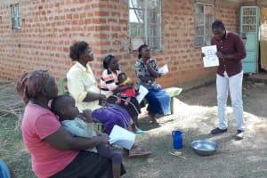 The Water Project: Mwichina Community, Matanyi Spring -  Training
