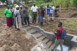 The Water Project: Kalenda B Community, Lumbasi Spring -  Trainer Ian Leads Site Management Training