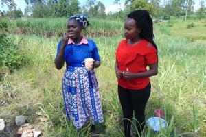 The Water Project: Bukhaywa Community, Shidero Spring -  Demonstrating Toothbrushing