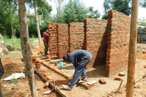 The Water Project: Hobunaka Primary School -  Stalls Take Shape