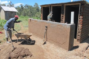The Water Project: Bugute Lutheran Primary School -  Cementing Latrines
