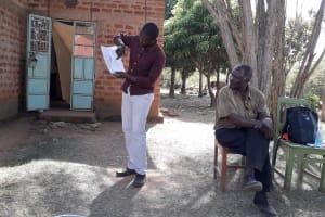 The Water Project: Mwichina Community, Matanyi Spring -  Mr Matanyi Seated Up Front