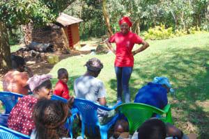 The Water Project: Mubinga Community, Mulutondo Spring -  Trainer Georgina Opens The Day
