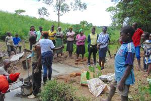The Water Project: Maondo Community, Ambundo Spring -  Trainer Jemmimah Leads Site Management Training