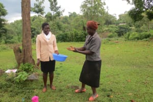 The Water Project: Rosterman Community, Lishenga Spring -  Handwashing Practice