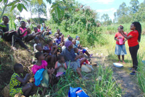 The Water Project: Bukhaywa Community, Shidero Spring -  Georgina Leads Handwashing