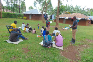 The Water Project: Imusutsu Community, Ikosangwa Spring -  Community Members Lead At Training