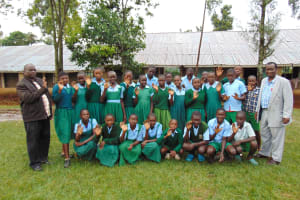 The Water Project: Bumbo Primary School -  Pupils And Staff Pose After Training