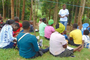 The Water Project: Maondo Community, Ambundo Spring -  Trainer Jemmimah In Action