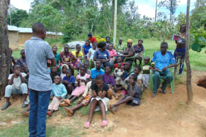 The Water Project: Emurumba Community, Makokha Spring -  Training Begins