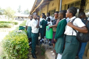 The Water Project: Sawawa Secondary School -  Toothbrushing Demonstration