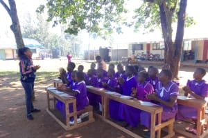 The Water Project: Chiliva Primary School -  Learning Handwashing Steps