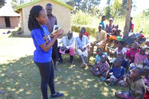 The Water Project: Kalenda A Community, Webo Simali Spring -  Trainer Isabella On Dental Hygiene