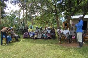 The Water Project: Kalenda B Community, Lumbasi Spring -  Sharing An Answer