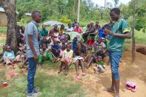 The Water Project: Emurumba Community, Makokha Spring -  Toothbrushing Session