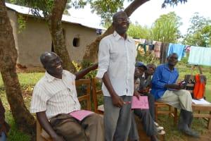 The Water Project: Kalenda B Community, Lumbasi Spring -  Standing To Speak