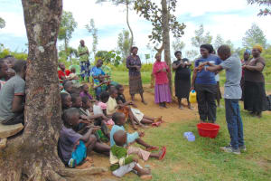 The Water Project: Emurumba Community, Makokha Spring -  Handwashing Session