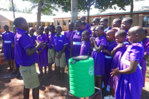 The Water Project: Chiliva Primary School -  Students Turn To Lead Handwashing