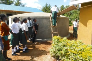 The Water Project: Sawawa Secondary School -  Gutter Cleaning Demonstration